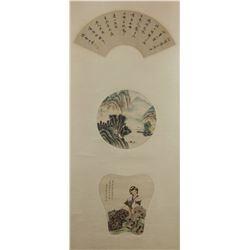 Fei Danxu 1802-1850 Chinese Watercolour Scroll