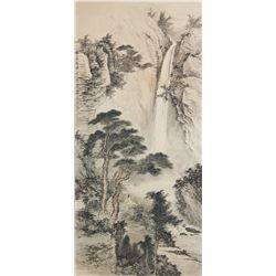 Huang Bijun 1898-1991 Watercolour on Paper Scroll