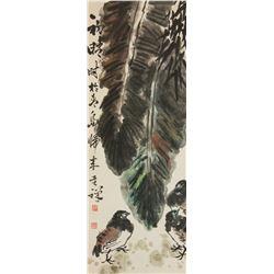 Li Keran 1907-1989 Watercolour on Paper Scroll