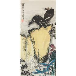 Pan Tianshou 1897-1971 Chinese Watercolour Scroll