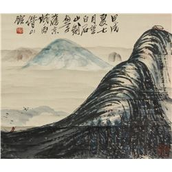 Qi Baishi 1864-1957 Watercolour on Paper Scroll