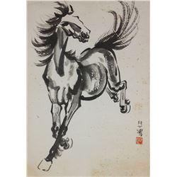 Xu Beihong 1895-1953 Chinese Watercolor on Scroll