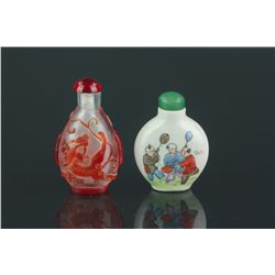 2 PC Chinese Snuff Bottles