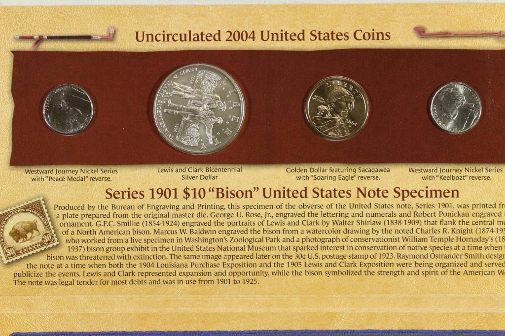 2004 US Lewis and Clark Coinage /& Currency Set