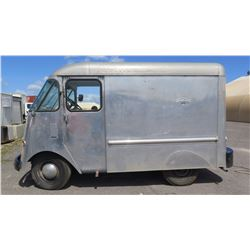 """52 Chevy - Vintage Milk Delivery Van, Aluminum Body, 94""""L, 78.5""""W, 70.5""""H, Has Title. """"SO ONO"""" Plate"""
