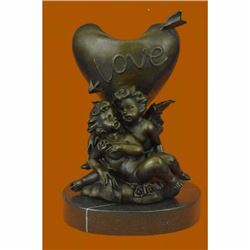 Hot Cast Be my Valentine Candle Holder Bronze Statue