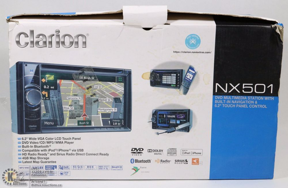 CLARION NX501 STATION MULTIMEDIA STATION WITH