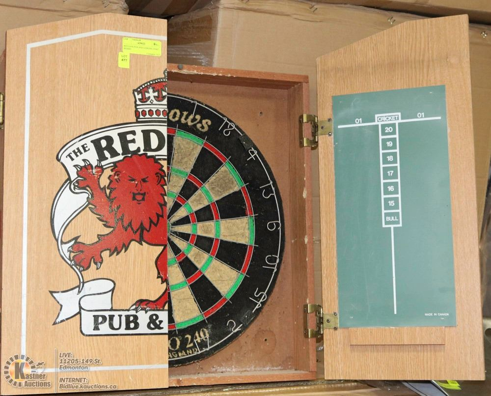 RED LION PUB AND LODGING DART BOARD