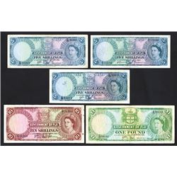 Government of Fiji, Queen Elizabeth II issues ca.1957-1965.