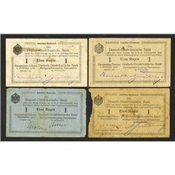 Deutsch-Ostafrikanische Bank, 1915-1916 Banknote Trio.