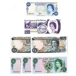Various British Issuers, 1970's, Group of 7 Issued Notes