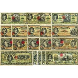 Banco Nacional de Mexico, 1905 to 1913 Issue Banknote Assortment.
