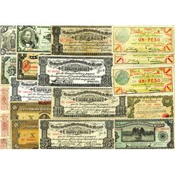Mexico Revolutionary Banknote Assortment, ca.1913-1914.