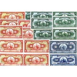 Banco Central De Reserva Del Peru, 1952 to 1968 Issues, mostly CU condition.