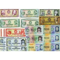 Banco Central De Reserva Del Peru, 1958 to 1972 Issue Banknote Assortment.