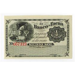 Banco de Tacna, ca.1860-70 Remainder Baknote.