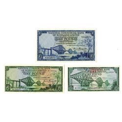 National Commercial Bank of Scotland Limited, 1959 to 1968 Issue Trio.