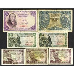 Banco de Espana. 1940-1946 dated issues.