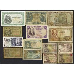 Banco de Espana. 1940-48 Issues.
