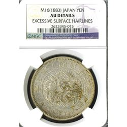 Japan, Empire, 1883, Yen, Meiji 16.