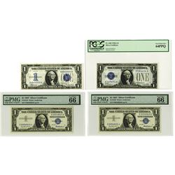 Silver Certificate, 1928-1957, Lot of 4 Notes