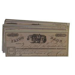 Ilion Bank 1864 Lot of 20+ Issued Certificate of Deposit.