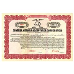 General Motors Acceptance Corp., 1919 Specimen Bond