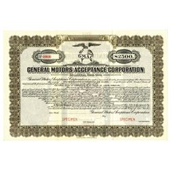 General Motors Acceptance Corp., 1919 Specimen Bond