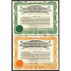 Knudsen Motor Corp. 1925. Green or Orange GOES forms.