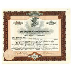 Templar Motors Corp., 1920 Issued Stock Certificate