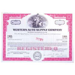 Western Auto Supply Co., ca.1970-1980 Lot of 4 Specimen Bonds
