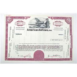 American Airlines, Inc., ca.1960-1970 Specimen Stock Certificate