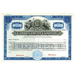 Camden Trust Co., 1938 Specimen Stock Certificate