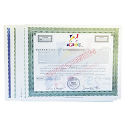 Dot Com Bubble Companies Specimen Stock Certificates Assortment, ca.1990's-2000.