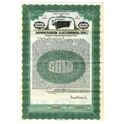 Associated Laundries, Inc., 1925 Specimen Bond