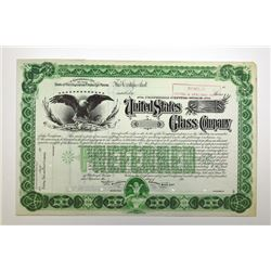 United States Glass Co., ca.1900-1910 Specimen Stock Certificate