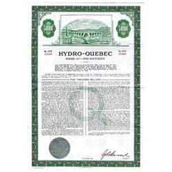 Hydro-Quebec, 1966 Specimen Bond