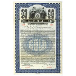 Republic of Chile, 1921 Specimen Bond