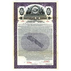 Republic of Chile, 1926 Specimen Bond