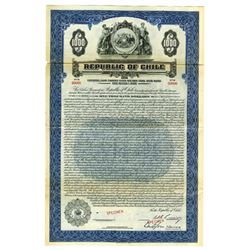 Republic of Chile, 1929 Specimen Bond