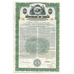 Republic of Chile, 1948 Specimen Bond