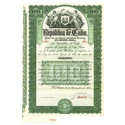 Republic of Cuba, 1905 Specimen Bond