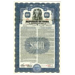 Republic of Cuba, 1937 Specimen Bond