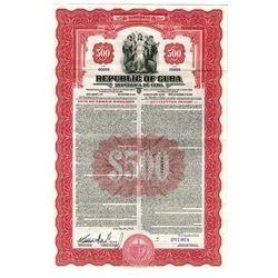 Republic of Cuba, 1941 Specimen Bond