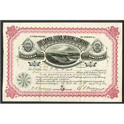 Santa Elena Mining Co. 1887.