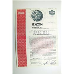 Exxon Finance N.V., 1982 Specimen Bond