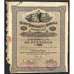 Banco Territorial y Agricola. 1895.