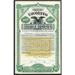 Favorito Marble Co. 1893.
