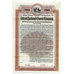 Detroit Portland Cement Co., 1900 Specimen Bond