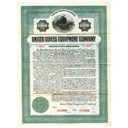United States Equipment Co., 1914 Specimen Bond